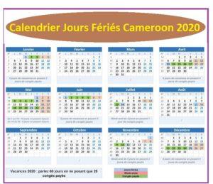 Jours Fériés Cameroun 2020 Pdf