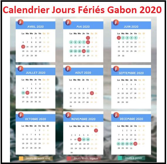 Calendrier Des Jours Fériés Du Gabon 2020