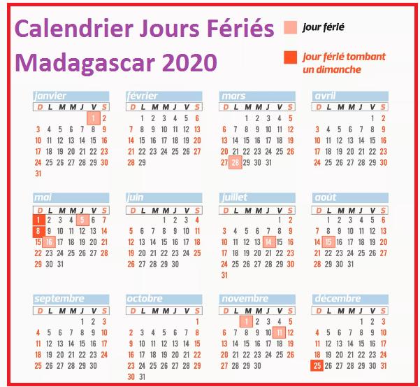 Calendrier Jours Feries Madagascar 2020 Et 2021