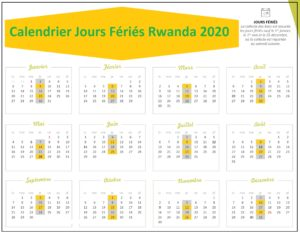 Calendrier Des Jours Fériés Au Rwanda 2020