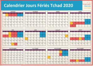 Jours Fériés Tchad 2020 Excel