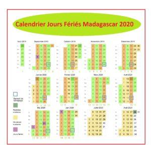 Liste jour férié 2020 Madagascar