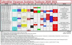 Dates Calendrier Vacances Scolaires Toulouse 2020