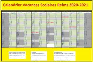 Reims Calendrier scolaire 2020-2021 à Imprimer
